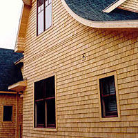 Atlantic Cedar Products White Siding Shingles